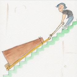 いもあられ@学校の階段