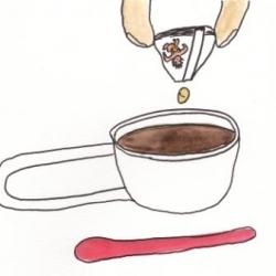 いもあられの、、、コーヒーで