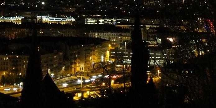 night view Lyon 1