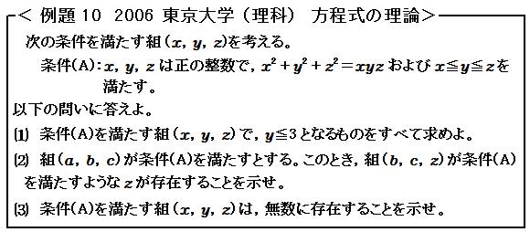 2006 東大過去問 方程式の理論