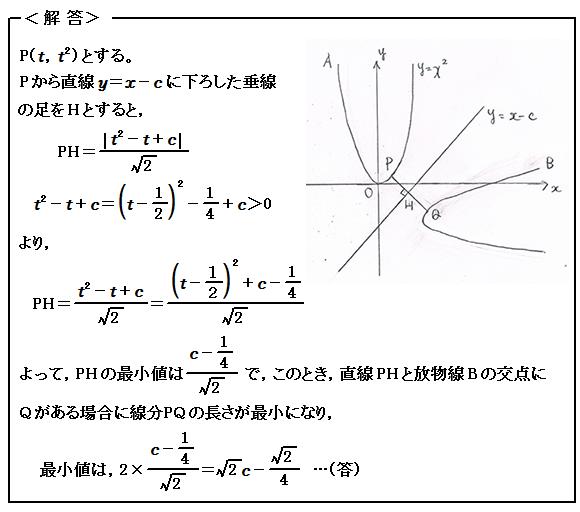 1999東京大学(文科) 図形と式 演習11 解答