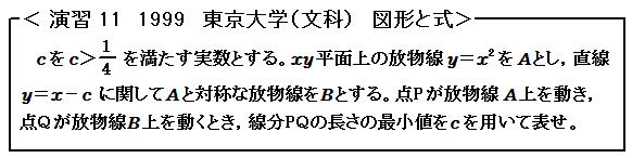 1999東京大学(文科) 図形と式 演習11