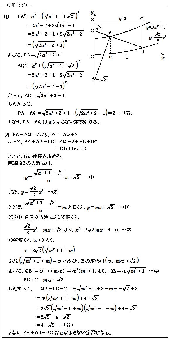 2013東京大学(文科) 2重根号 例題11 解答