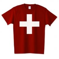 スイス国旗風Tシャツ