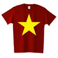 ヴェトナム国旗風Tシャツ