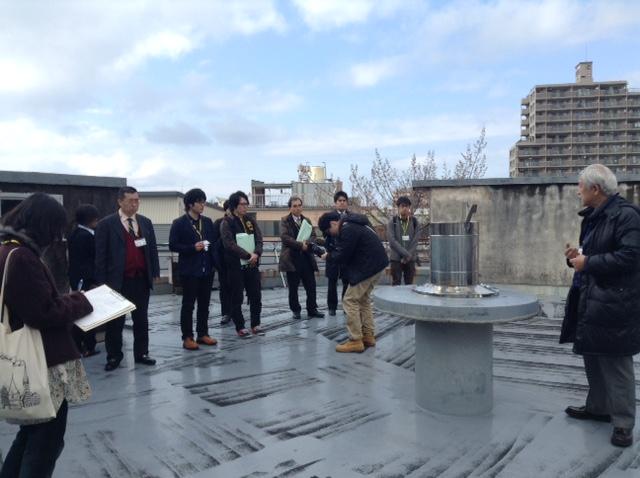 現場で学ぶ「地域の課題解決向上」講座旧横田医院屋上