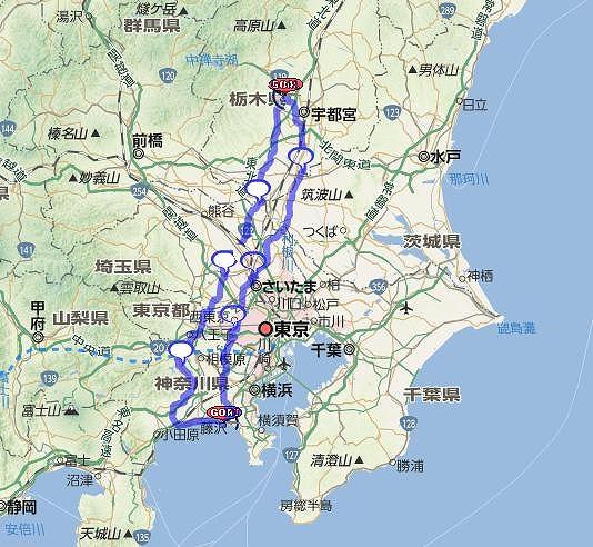 宇都宮400kmmap