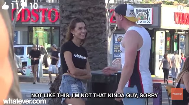 街中で美女が突然「私とHしない?」100人中OKしたのは何人?