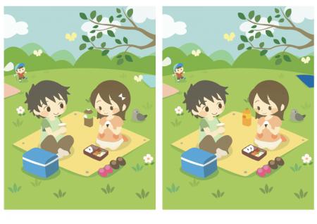間違い探し・ピクニック