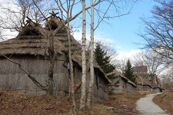 2014北海道旅行:のぼりべつクマ牧場 アイヌコタン2