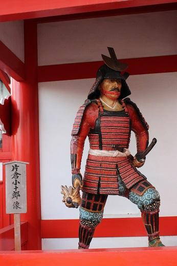 2014北海道旅行:登別伊達時代村 片倉小十郎像