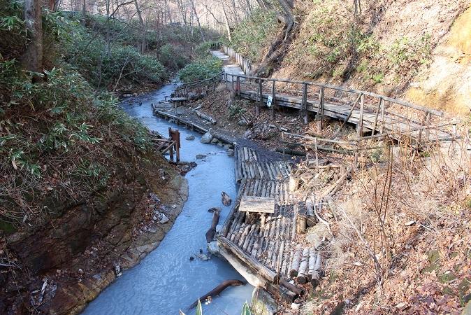2014北海道旅行:登別温泉 大湯沼川 天然足湯