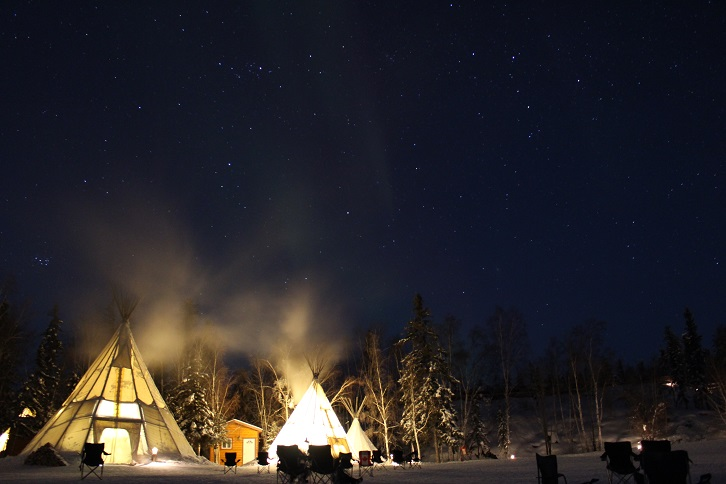 2015カナダ旅行:0210オーロラビレッジ オーロラ2