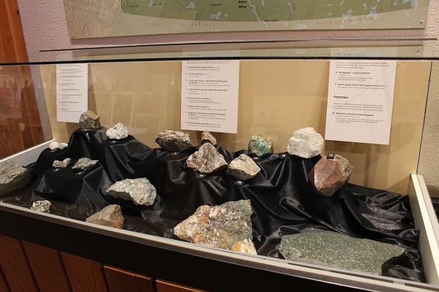 2015カナダ:0210イエローナイフ 博物館 鉱物