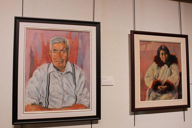 2015カナダ:0210イエローナイフ 博物館 絵画
