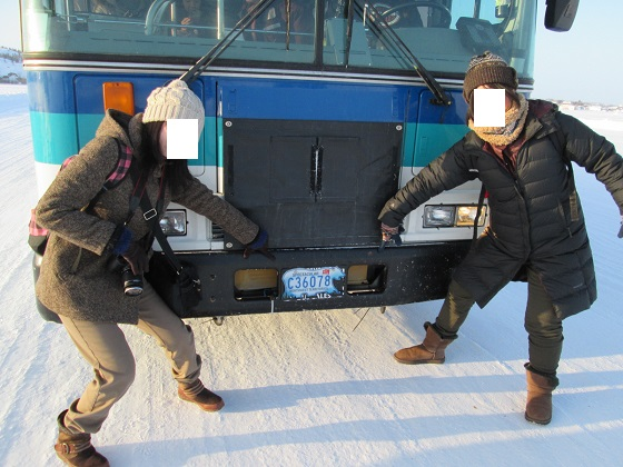2015カナダ:イエローナイフ アイスロード バス