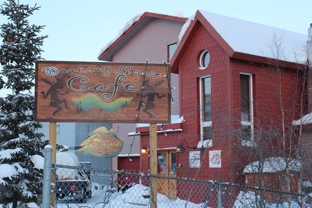 2015カナダ:0210イエローナイフ オールドタウン地区 カフェ