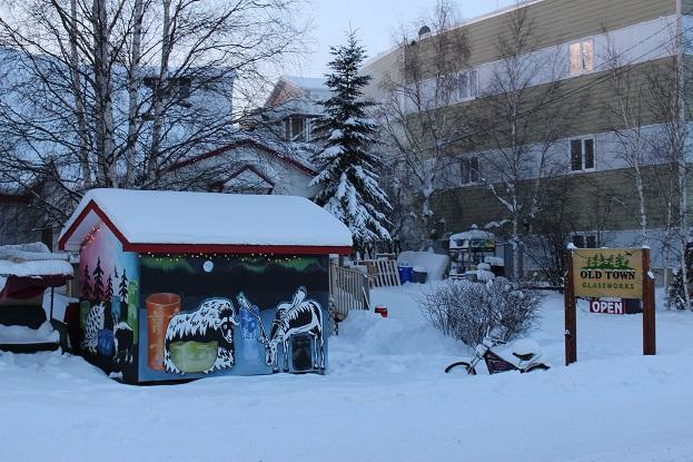 2015カナダ:0210イエローナイフ オールドタウン地区