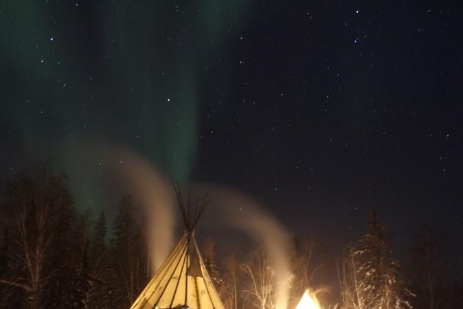 2015カナダ旅行:0211オーロラビレッジ オーロラ6