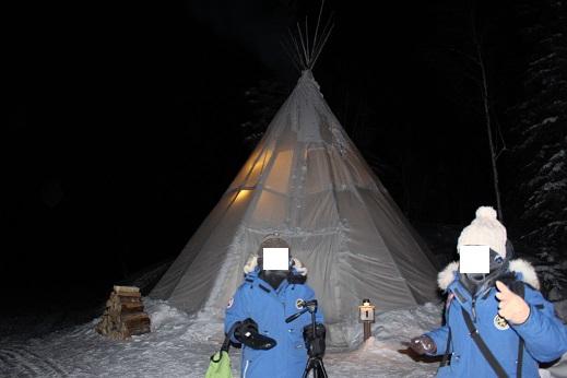 2015カナダ旅行:0211オーロラビレッジ ティーピー