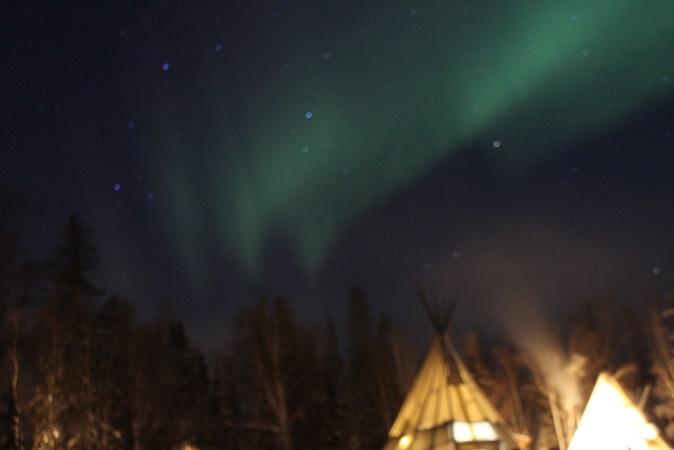 2015カナダ旅行:0211オーロラビレッジ オーロラ7
