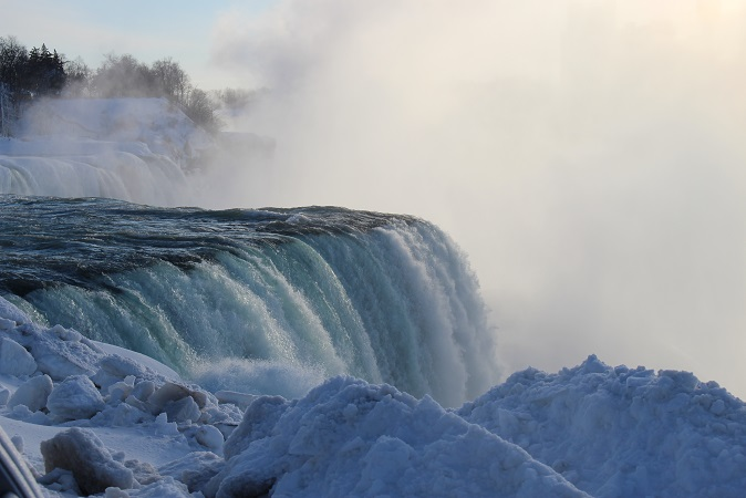 2015カナダ旅行:0213アメリカ ナイアガラ・フォールズ州立公園 アメリカ滝2