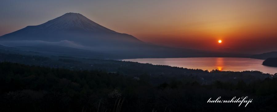 山中湖パノラマ夕景S
