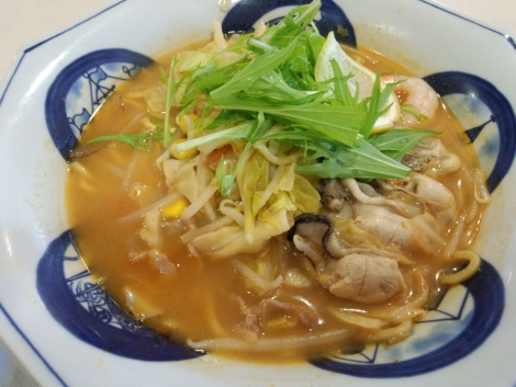かきちゃんぽんトムヤムクン風スープ
