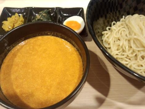 渡蟹のビスク風つけ麺 箸休め