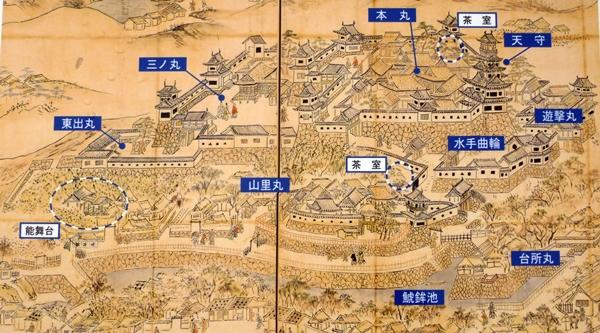 名護屋城古図