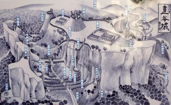 直谷城案内図