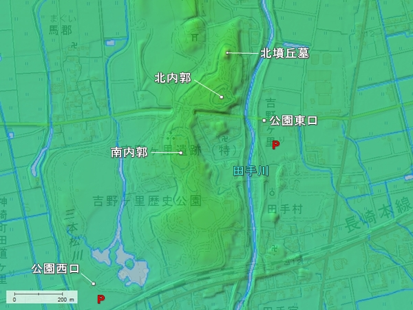 吉野ヶ里地形図