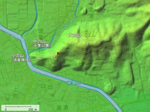 肥前千葉城地形図