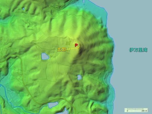 梶谷城地形図