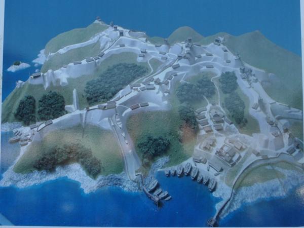 下田城復元模型
