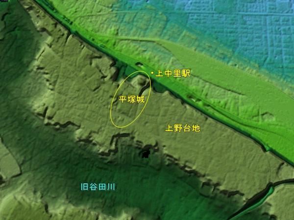 平塚城地形図