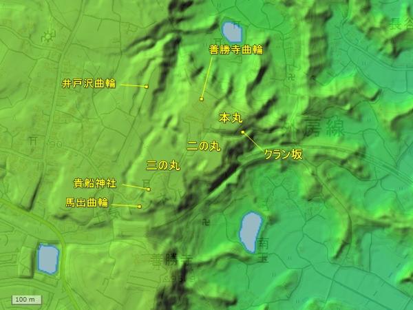 土気城地形図
