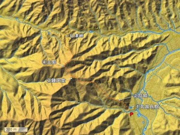 霧山城地形図