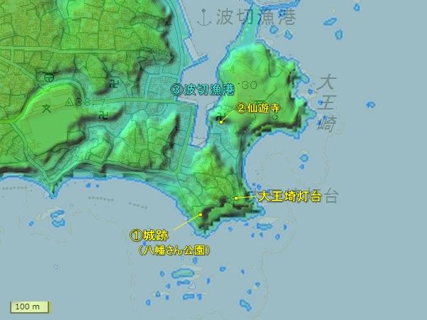 波切城地形図