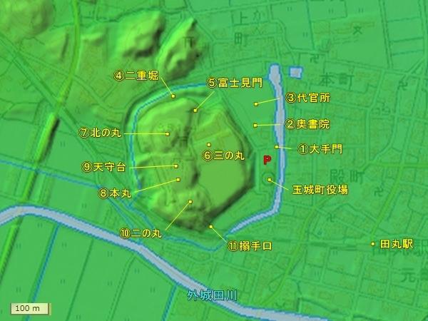 田丸城地形図