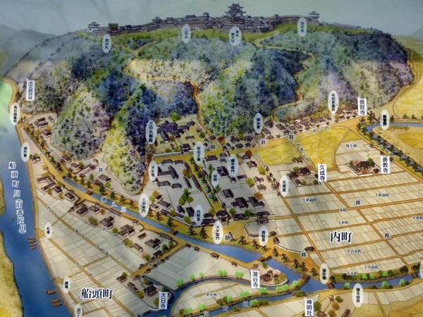 佐伯城絵図