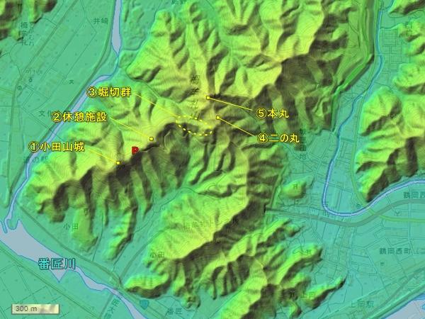 栂牟礼城地図
