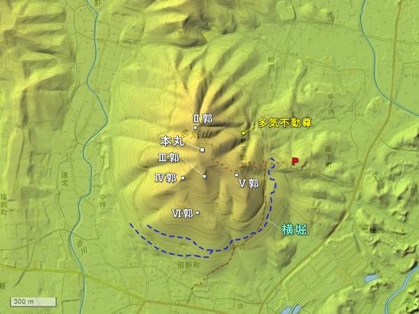 多気城地形図