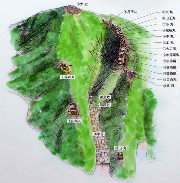 小谷城復元図