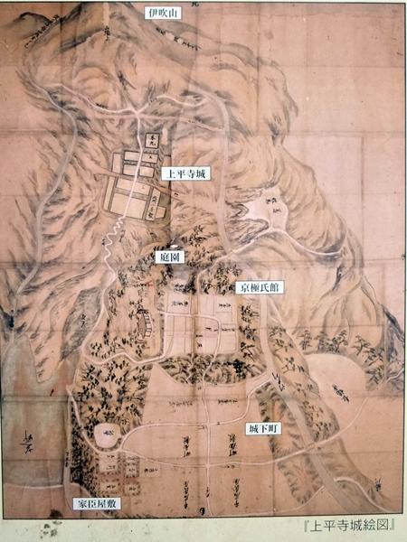 上平寺城絵図