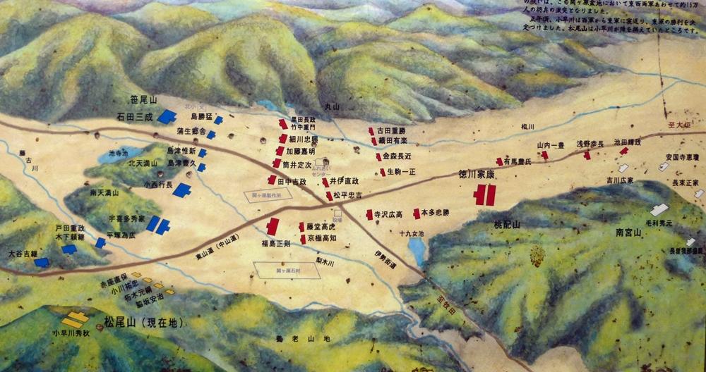 関ヶ原の合戦布陣図