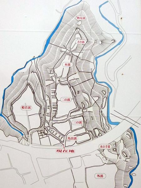 名胡桃城地形図