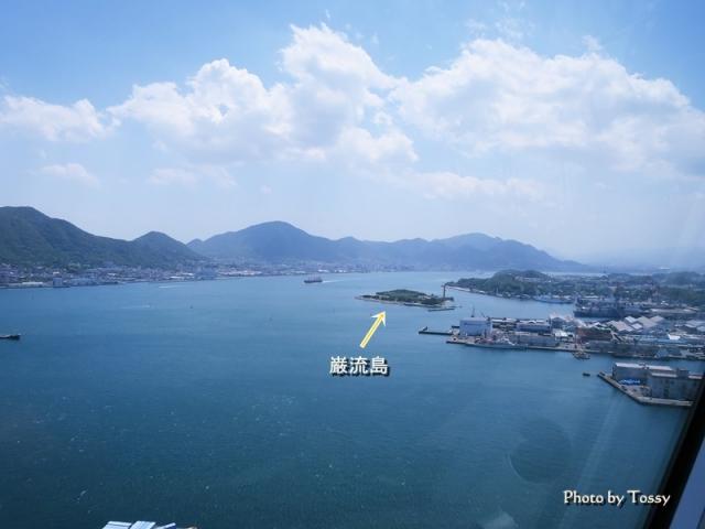 巌流島を望む