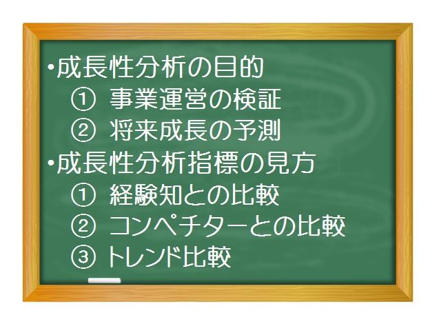 財務分析(入門編)_成長性分析(1)理解の動機と表示方法の種別