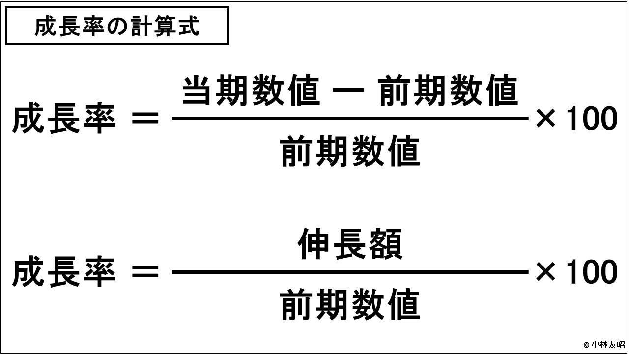 財務分析(入門編)_成長率の計算式